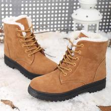 ENFRENTAR LA FUERZA 2016 de Alta Calidad de Las Mujeres Botas de Invierno de la Marca Ocasional Caliente zapatos de Gamuza de Piel de Felpa Nieve de La Manera Patea Los Zapatos Más El Tamaño 35-43(China (Mainland))