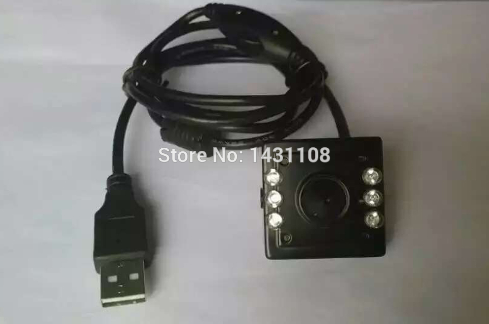 2MP Super Mini Size 34*34mm 6pcs of IR LED Adjust Pinhole USB IR Nest Box Camera(China (Mainland))