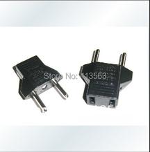 1pc/lot US to EU AC Power Plug Travel Converter Adapter(China (Mainland))