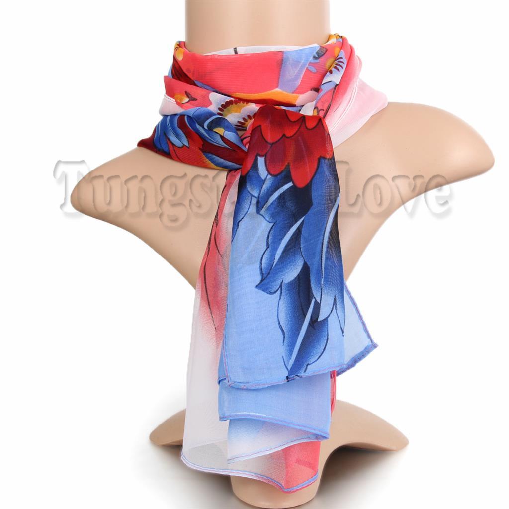 Chiffon Scarf Women Colorful Print Silk Scarf Female Designer Brand Ladies Scarves Shawl Scarves Spring Summer Foulard Femme(China (Mainland))