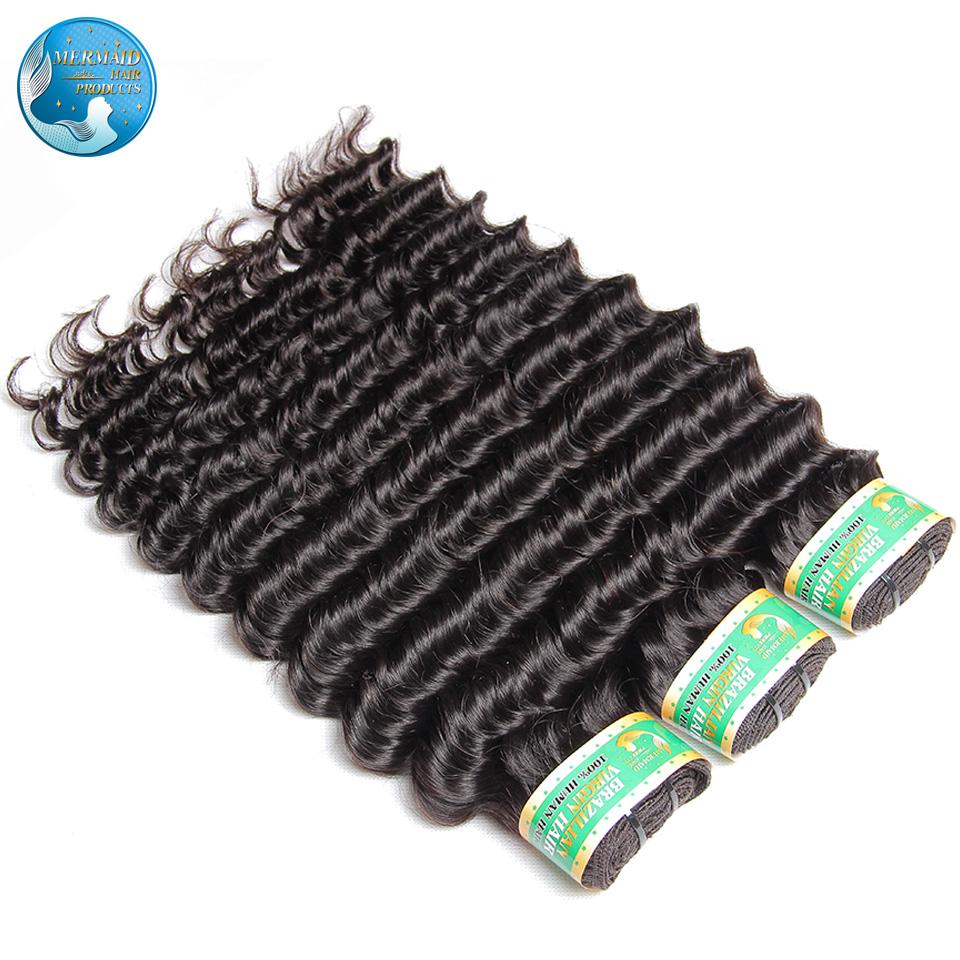 brazilian deep wave virgin hair extension nature black #1b unprocessed grade 6A brazilian virgin hair deep wave 3 bundles<br><br>Aliexpress