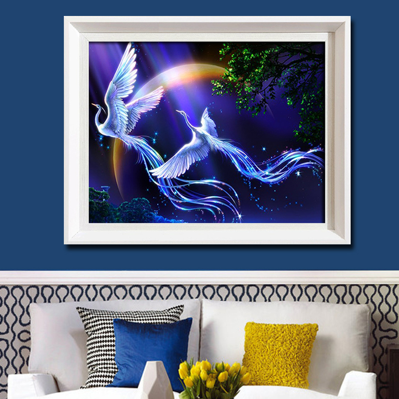 New 5d diy diamond painting animals birds lover phoenix cross stitch round rhinestone pictures of crystals embroidery patchwork(China (Mainland))