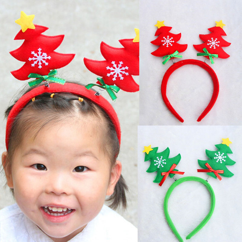 New Christmas Tree Cute Girls Gift Hairband Headband Hat Party Xmas Gift(China (Mainland))