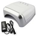 36W 3 Colors Red/White/Black Beautiful Nail Art UV Gel Curing Lamps Nail Polish Lights Nail Glue Dryer
