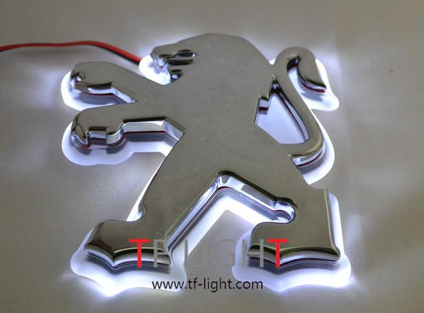 Car logo emblem light for peugeot 207 307 408 206 507 car badge lamp,auto led light,auto emblem led lamp(China (Mainland))