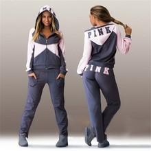 Fashion New Women Hoodies Tracksuit Sportswear Hoody Set Pants Joggings Sweatsuit Sports Suit Jogging Suits For Women D494(China (Mainland))