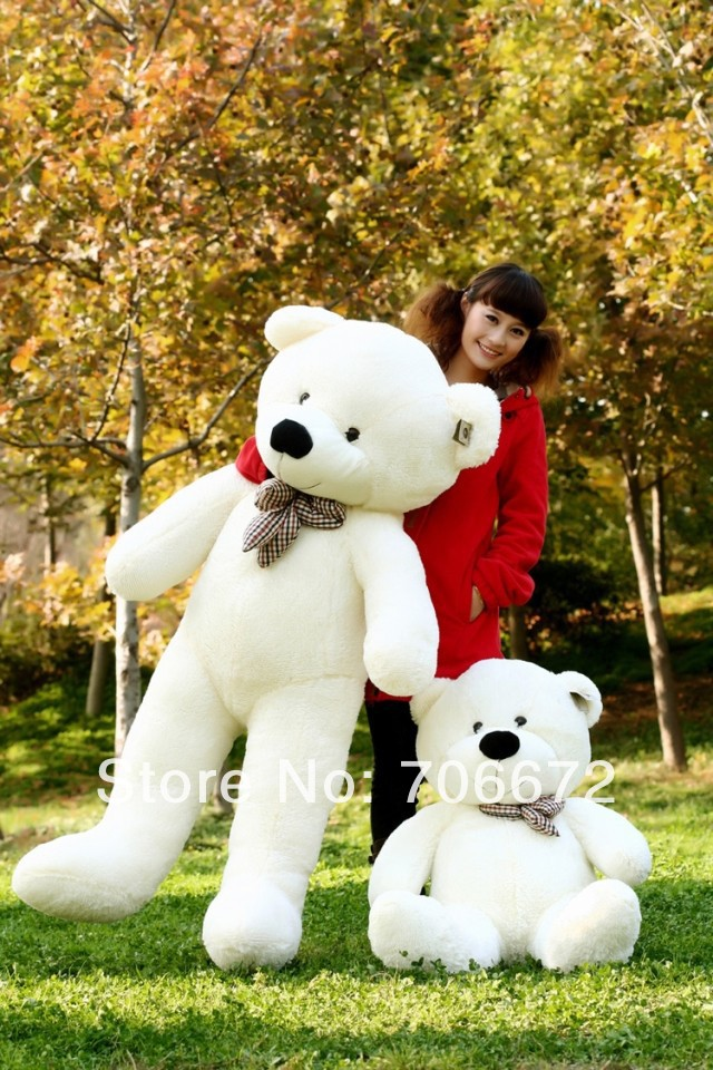 New stuffed white teddy bear Plush 180 cm Doll 70 inch Toy gift wb8416(China (Mainland))