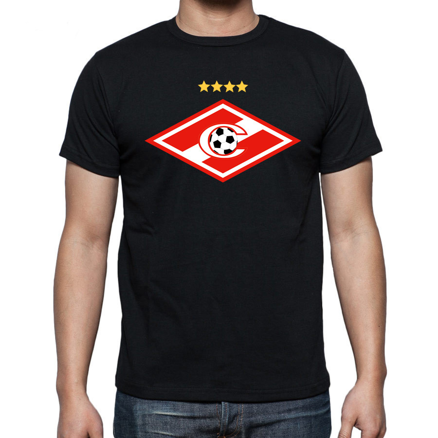 Men Fashion FC Spartak Moscow Russian Football Soccer T Shirts Logo Printing SPARTAK MOSCOW FC t-shirts(China (Mainland))
