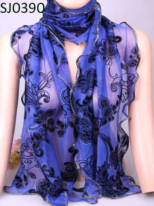 Charm scarf Vintage Warm Flower Bohemian Shape Chiffon Silk Rayon Microfiber Scarves & Wraps Shawl For Women Free Shipping(China (Mainland))