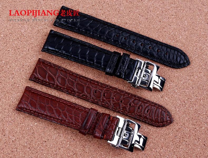 Laopijiang кожаный ремешок мужской бабочка ремешок из кожи аллигатора мужчины ремень 20 мм черный коричневый