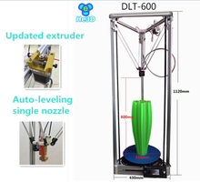 He3D Auto- leveling single nozzle DLT-600 delta 3d printer kit large print size printer  280mm*600mm