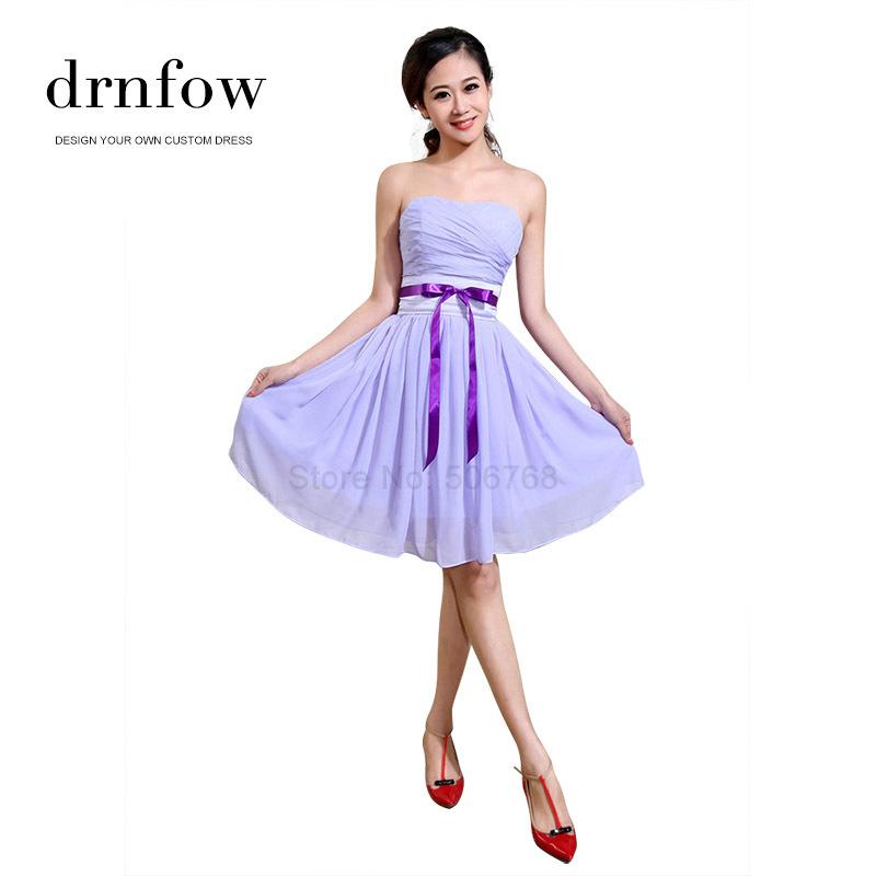 2015 New short plus size cheap bridesmaid dresses under 50 Wedding party lavender lilac light purple burgundy royal blue dress(China (Mainland))