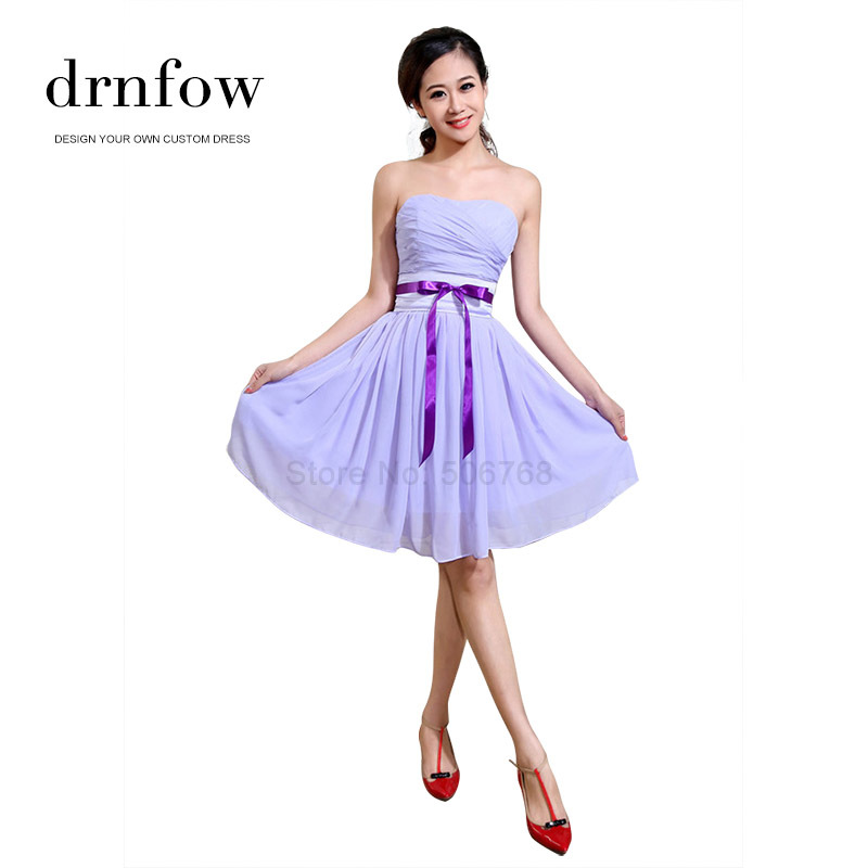 2015 New short plus size cheap bridesmaid dresses under 50 Wedding party lavender lilac light purple burgundy royal blue dress(China (Mainland))