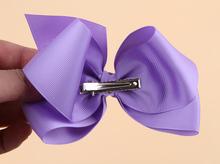 Cute Baby Grosgrain Ribbon Bow Hair Clip Pin Flower Baby Girl Headdress Accessories Orange Pink Green