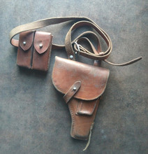 VIETNAM WAR CHINESE ARMY PLA TYPE 54 HOLSTER & ARMY BROWN LEATHER HOLSTER 110315(China (Mainland))
