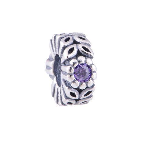 Подходит пандора браслет серебряный 925 бусины винт бусины с фиолетовый кристалл DIY мода ювелирных нахождения оптовая продажа серебряные ювелирные изделия