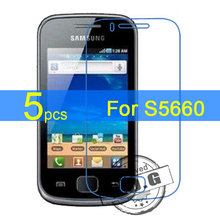 5pcs Ultra Clear LCD Screen Protector Film Cover For Samsung Galaxy Gio S5660 i569 Protective Film  +  cloth