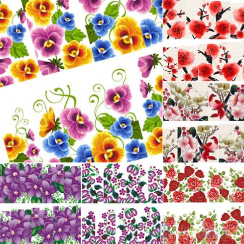 Гаджет  Beautiful Flower Decal Water Transfer Manicure Nail Art Stickers Tips Decoration 1UAX None Красота и здоровье