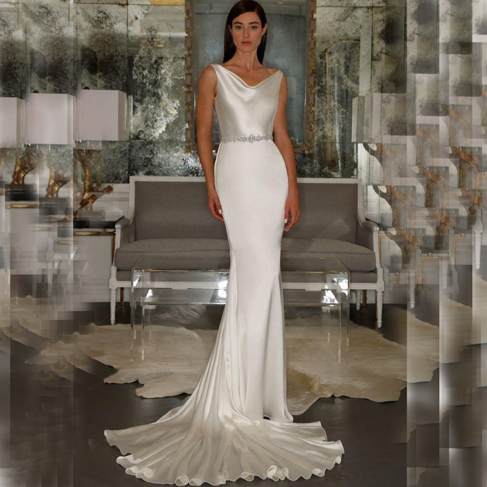 Buy 2015 sexy white open criss cross back for Cross back wedding dress