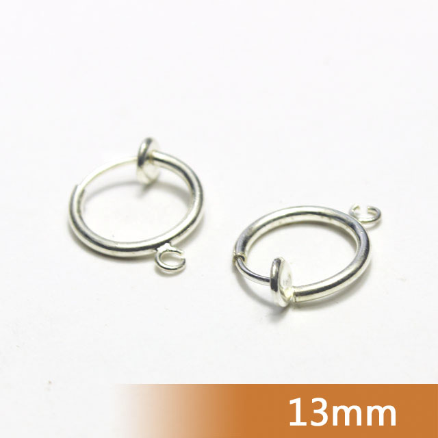 13mm Rhodium/14k Gold Plated 5 Colors Non-piercing Press Spring Clips Earring Hoops Ear Nose Lip Punk Women Men Body Jewelry<br><br>Aliexpress