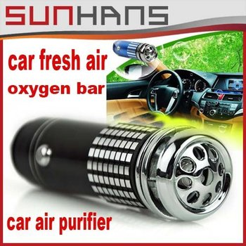 Direct Marketing  Auto Car Fresh Air Ionic Purifier Oxygen Bar Ozone Ionizer Cleaner   car air purifier   filter Free shipping