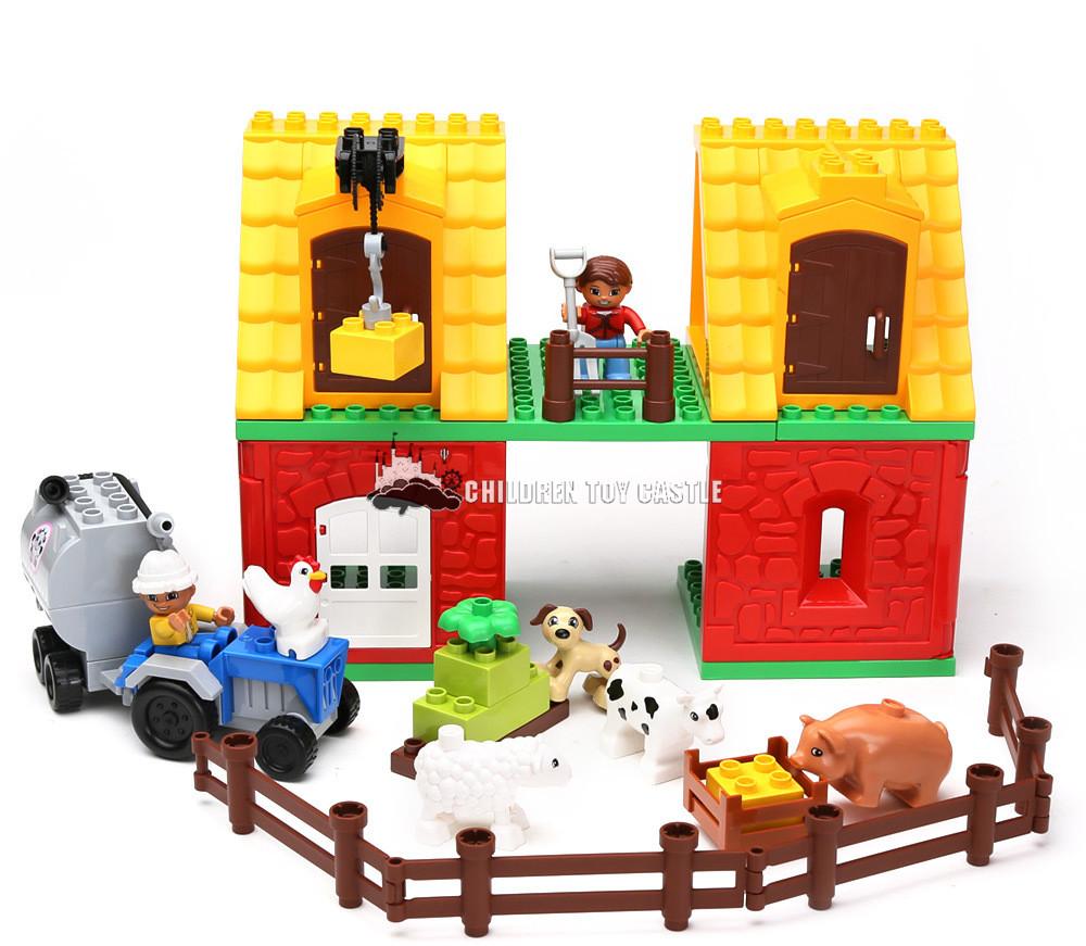 type of grand farm set joy poultry farm large granular building blocks toys ranch building blocks Compatible With legoe(China (Mainland))