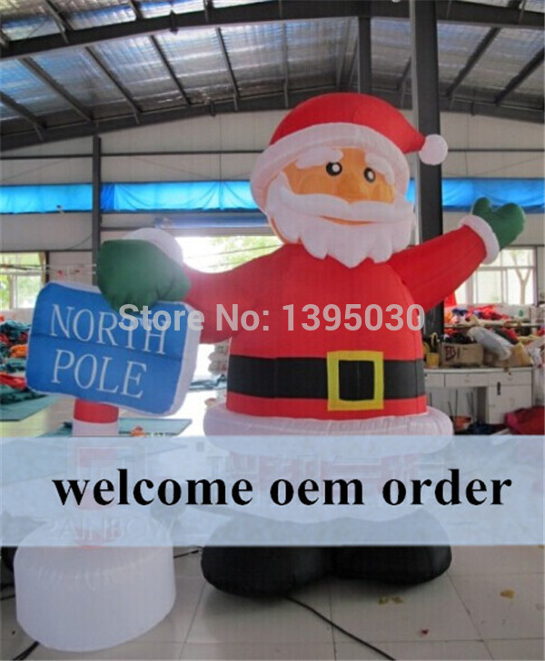 1pc 6M Free Shipping by DHL Santa Claus Design Inflatable Arch,Inflatable Christmas Arch(China (Mainland))
