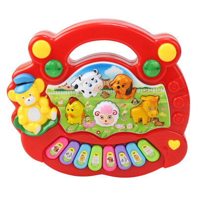Wholesale Baby Kid's Animal Farm Mobile Piano Smart Music Toy Electric ENGLISH Early /Xmas Gift(China (Mainland))