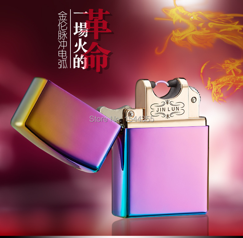 High Quailty Cigarette Lighter Arc lighter USB charging pulse character Windproof Lighters electronic cigarette lighter -HJ004