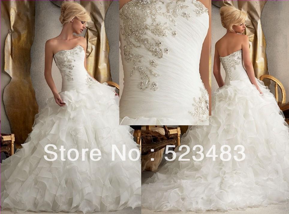 Wholsale classy elegant classy beading white wedding bride for Wedding dresses elegant classy