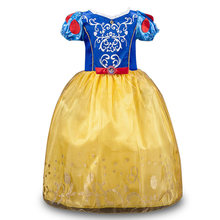 Рождественская Одежда для девочек, платья Белоснежка, костюм принцессы для костюмированной вечеринки на Хэллоуин платья принцессы для мал...(China)
