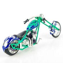 Saico 1:18 Green Custom CHOPPER Motorcycle DieCast Motorbike Model Toy Vehicles Collection carros de metal brinquedos(China (Mainland))