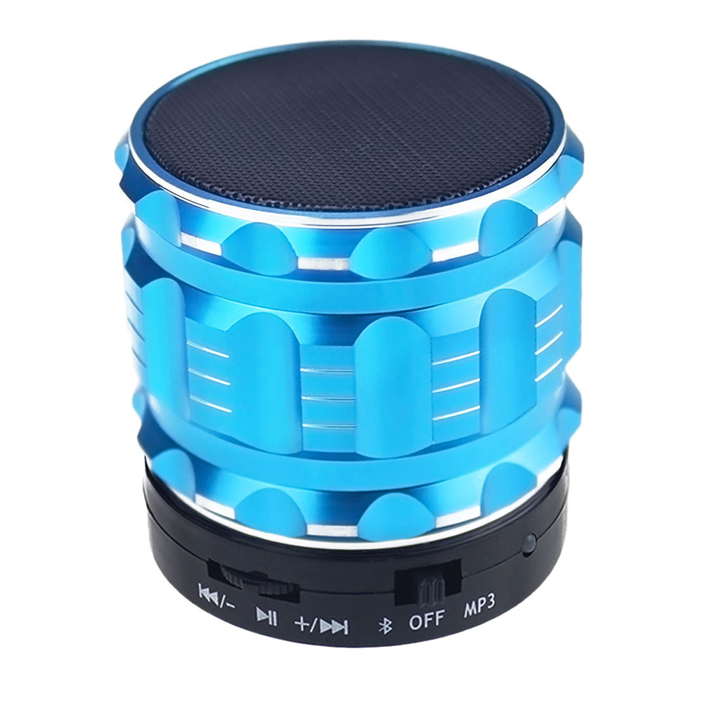 1pcs Blue Portable Wireless Bluetooth Speaker 3W Stereo Audio Sound TF-Card Support Subwoofer Speaker For iPhone MP3 MP4(China (Mainland))