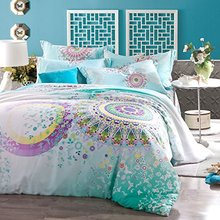 Bohemian Style Bedding  Bohemian Duvet Covers Peacock Bedding Set Unique Designer Bedding Sets Colorful Duvet Cover Bedding Set (China (Mainland))