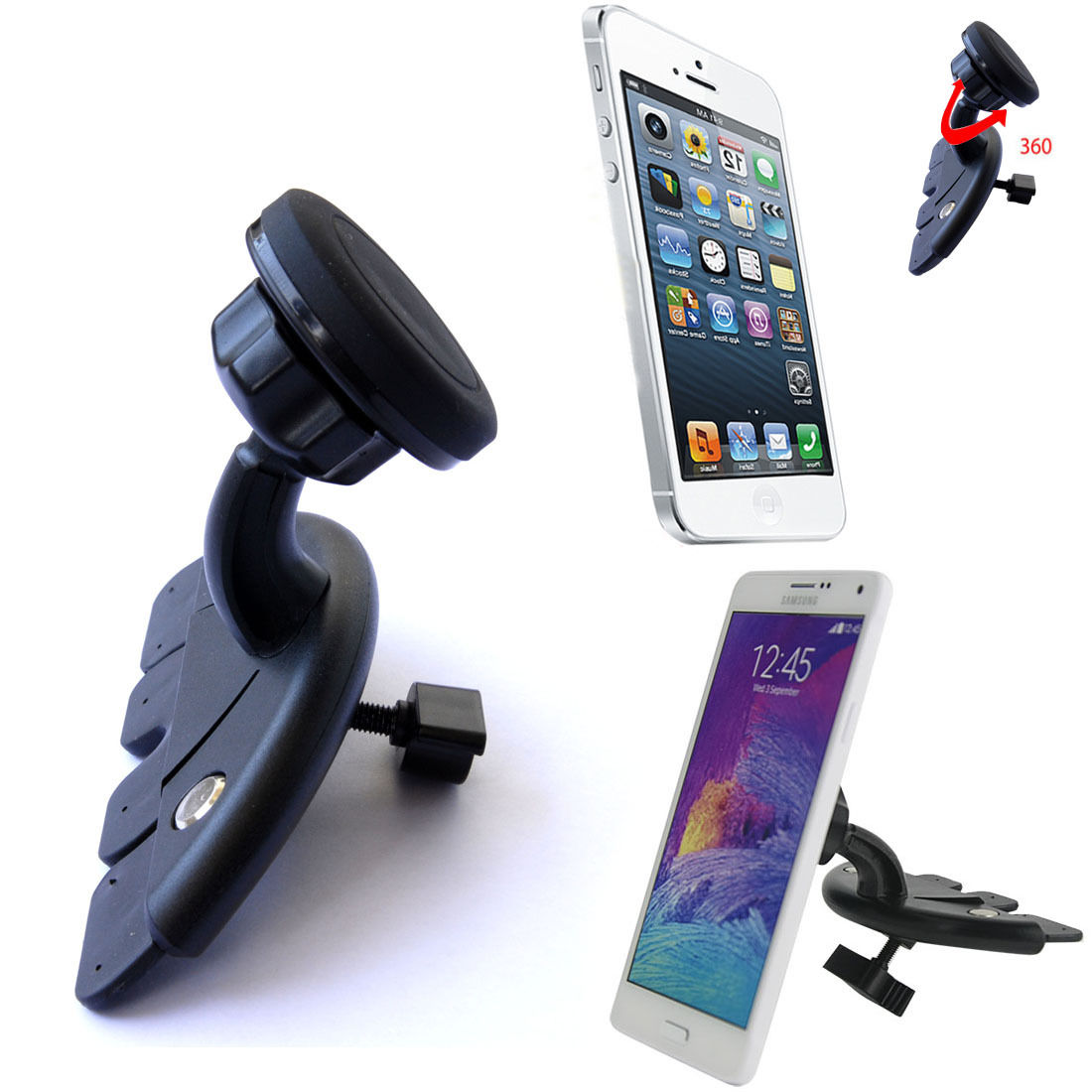 Universal 360 degree Car CD Slot Dock Magnetic Mount Holder Stands Bracket phone Phone Holder for the Car(China (Mainland))