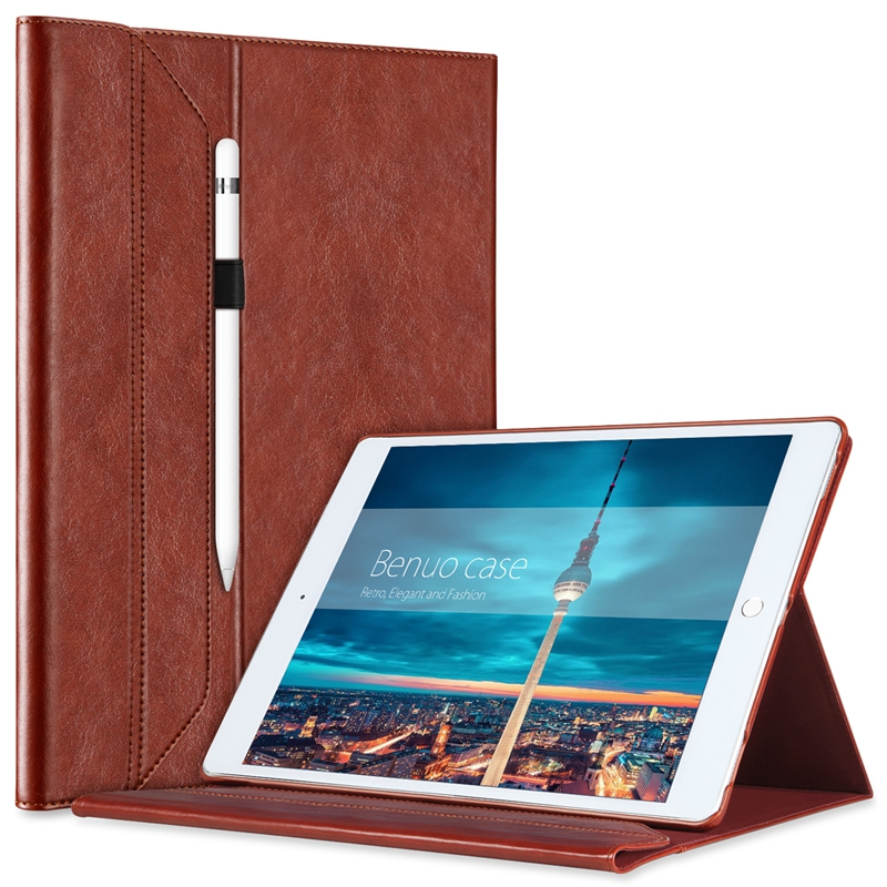 For iPad Pro 12.9 Leather Case With [Pencil Holder] For Apple Pencil [Invisible Stand],Portfolio Case [Magnetic Closure Feature(China (Mainland))