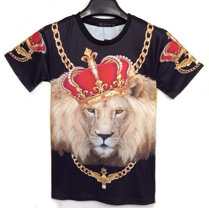 t-shirts 3d print lion V 3d Lion Print Hip Hop T