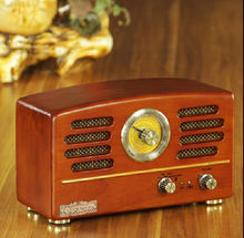 NEW HOT Top Fashion Vintage Wood Radio R202 Antique CD player/Bluetooth/USB/SD/MP3/MMC antique style for home decoration(China (Mainland))