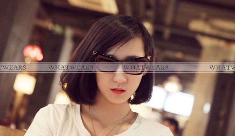 Женские солнцезащитные очки WHATWEARS 2015 Cat Oculos Feminino NH00008