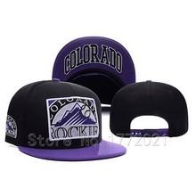 Men's Sport Team Colorado Rockies Snapback Hats Black Top With Purple Visor City Name Under Brim Adjustable Baseball Caps(China (Mainland))