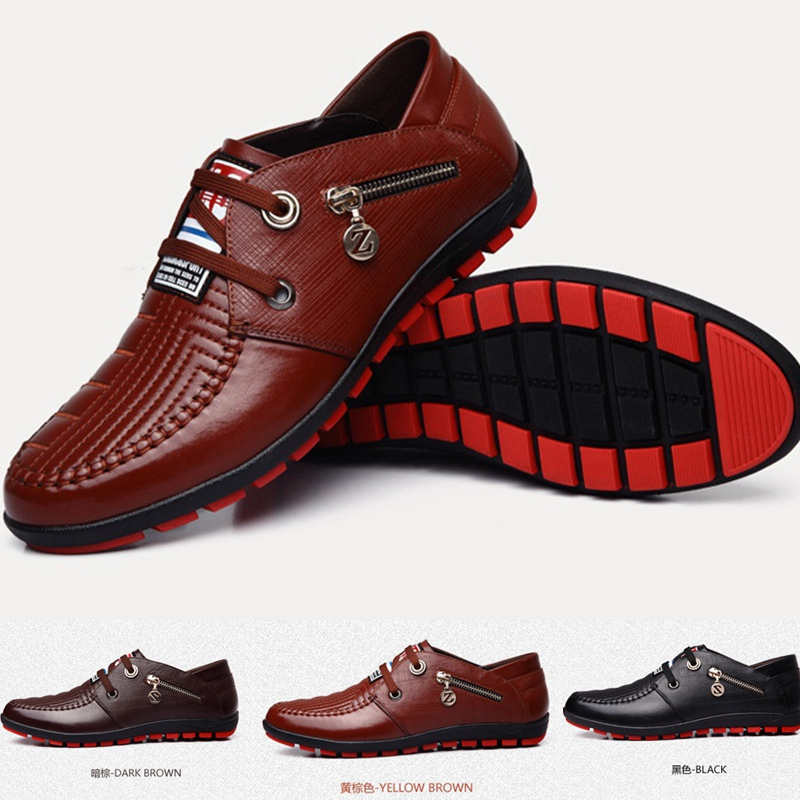 summer sports casual genuine leather stripe