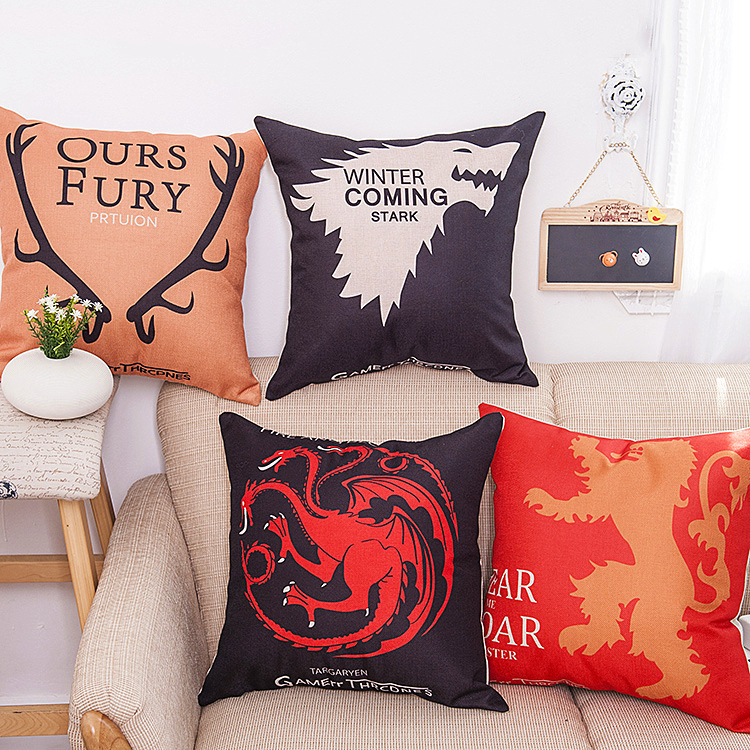 A Song of Ice and Fire Body Pillow Cover Cotton Linen Pillowcase Soft Cozy Anime Hugging Pillow Cases Home Decor  SD8