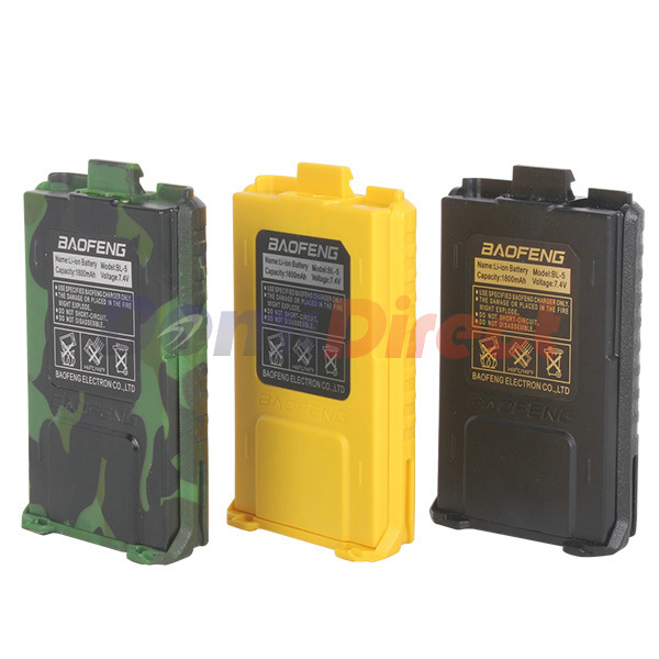 2pcs 1800mah BL-5 Original Li-Ion Baofeng Battery For Radio Walkie Talkie Accessories Baofeng UV-5R Uv-5re 5ra Uv 5r Battery