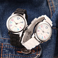 Fashion Creative Watch Silicone Rubber Strap Alloy Case Couple Analogue Display Quartz Movement Men Watch Women