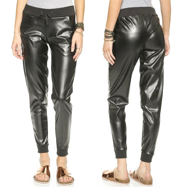 Brilliant 2015 Women Pants Casual Sport Harem Pants Loose Cotton Solid Color