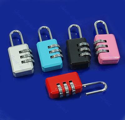 Гаджет  Mini 3 Digit Resettable Combination Luggage Suitcase Lock Padlock Gray 05B None Аппаратные средства