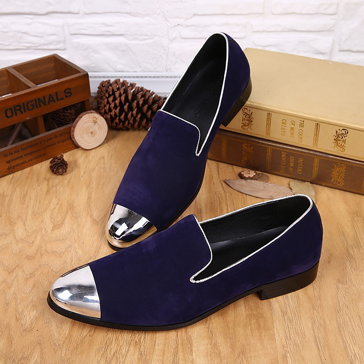 New 2015 Europe Style Men Dress Shoes Men Velvet Loafers Party Shoes Velvet Slippers Driving moccasins Plus Size 38-46(China (Mainland))