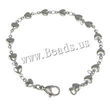 Buy Bracelets Women Stainless Steel Heart Chain Love Bracelets Bangle Women Man Link Jewelry Accessories Friendship Wristbands for $1.06 in AliExpress store