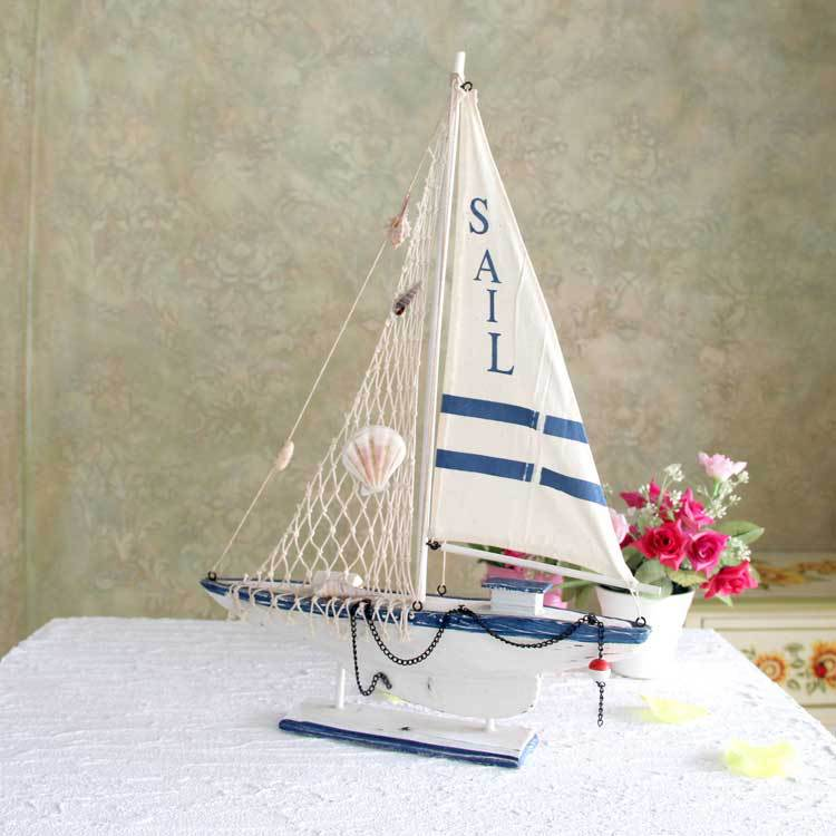 Style Wooden Goods Sailing Ship Model Technology Household ...