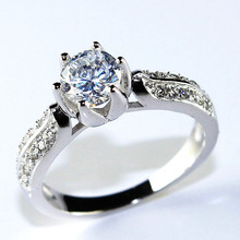 Fashion Wedding Engagement Rings for Women Punk Vintage Wholesale Jewelry Womens Jewellery 18K Platinum Plated Ulove Y027